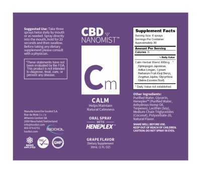 Bioactive NanoMist Calm Oral CBD Spray