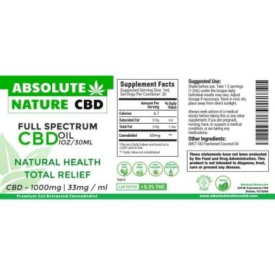 Full spectrum CBD oil CBD 1000 mg
