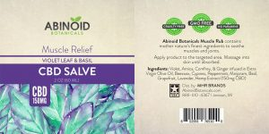 Abinoid Botanicals CBD Muscle Pain Relief Salve (2oz – 150mg CBD)