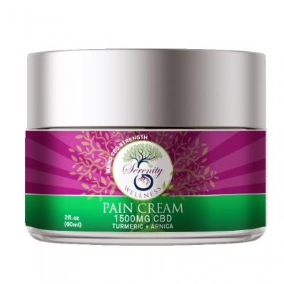 Pain Cream with 1500 mg CBD, Turmeric and Arnica