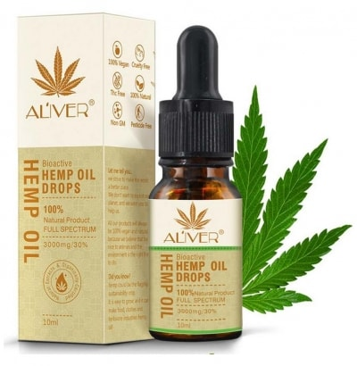 Hemp Oil Natural Extract for Relaxation, Relieve Stress, Improve Sleep Hemp 3000 mg