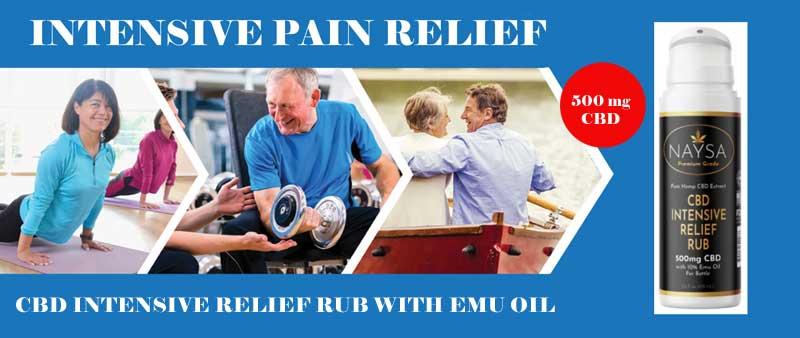 CBD Pain Relief Rub with Emu Oil