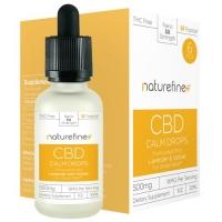 NatureFine+ Calm Drops CBD Tincture with Lavander and Vetiver